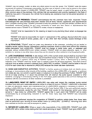 Residential lease / rental agreement page 2 preview