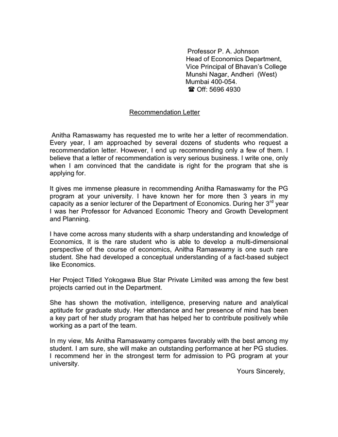 Letter Of Recommendation Professor from static.dexform.com