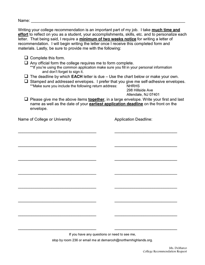 Writing A College Recommendation Letter from static.dexform.com