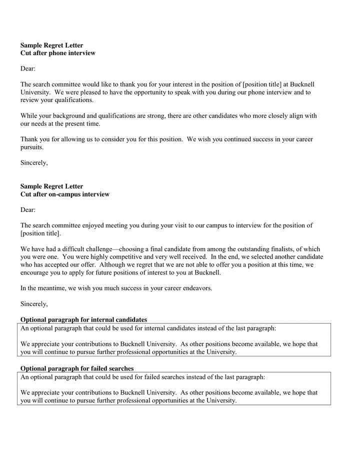 Rejection Letter After Phone Interview from static.dexform.com