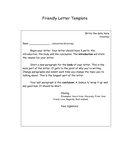Friendly Letter Template page 1 preview