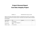 Project Closeout Report page 1 preview