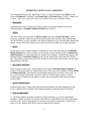 Residential house lease agreement page 1 preview