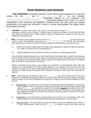 Illinois Residential Lease Agreement page 1 preview