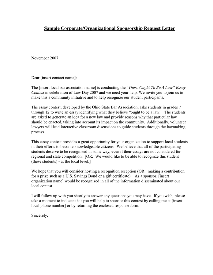 Request Letters Pdf  Letter Of Intent For Sponsorship