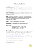 Kindergarten June Newsletter page 1 preview
