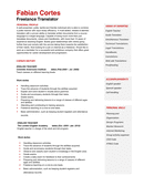 Physics teacher CV template resume page 1 preview