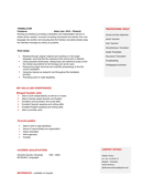 Physics teacher CV template resume page 2 preview