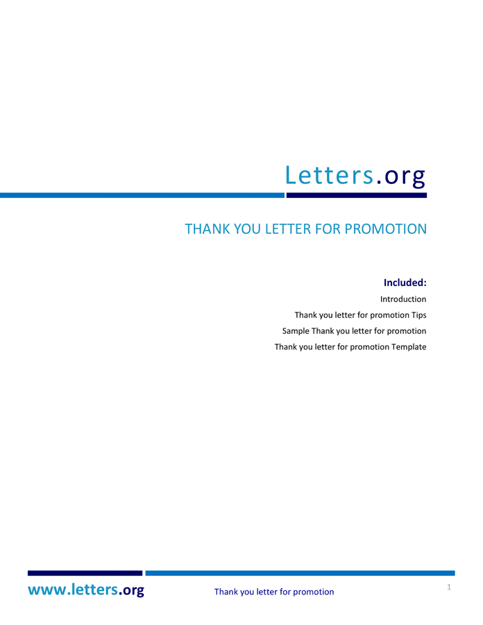 promotion thank you letter thank you letter for promotion doc pdf page 1 of 5 24135