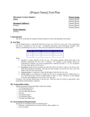 Test Plan Template page 1 preview