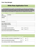 Job Application Form Template page 1 preview