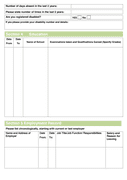 Job Application Form Template page 2 preview