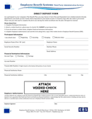 Direct Deposit Form page 1 preview