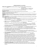 Michigan Residential Lease Agreement page 1 preview