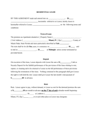 Form A310 RESIDENTIAL LEASE page 1 preview