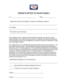 Notice of Intent to Vacate Early page 1 preview