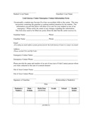 Emergency contact information form page 1 preview