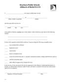 Affidavit of Birth page 1 preview