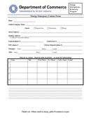 Energy Emergency Contact Form page 1 preview