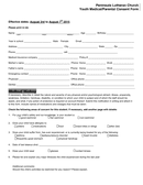 Youth Medical/Parental Consent Form page 1 preview