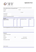 Job Application Form page 1 preview