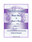Wedding Invitation Template page 1 preview