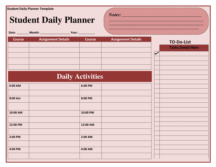 Daily Planner Template preview