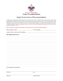 Eagle Scout Reference Letter Template page 2 preview