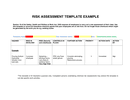 Risk Assessment Template page 1 preview