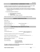 subcontractor transmittant form page 1 preview