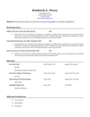 Basic Resume Template page 1 preview