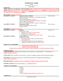 Sample resume template page 1 preview