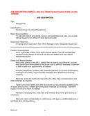Job description sample page 1 preview