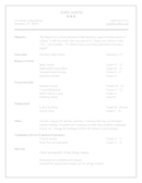 High School Resume Template page 1 preview