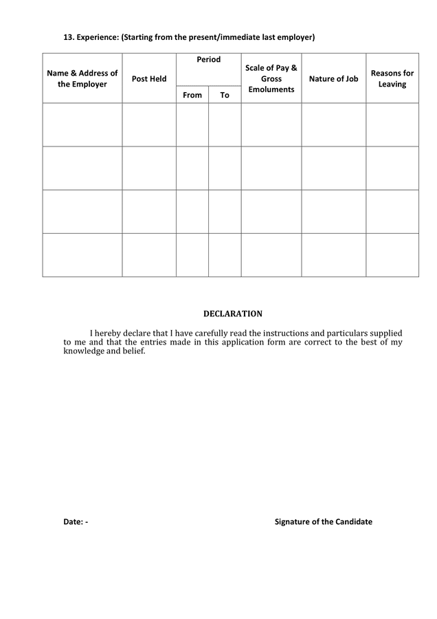 Biodata Form For Job Pdf
