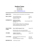 High School Student Resume page 1 preview