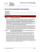 Risk Assessment Questionnaire Template page 1 preview
