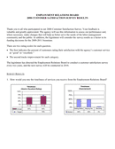Customer satisfaction survey results page 1 preview