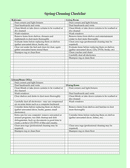 Spring Cleaning Checklist page 1 preview