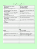 Spring Cleaning Checklist page 2 preview