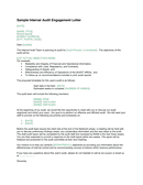 Internal Audit Engagement Letter page 1 preview
