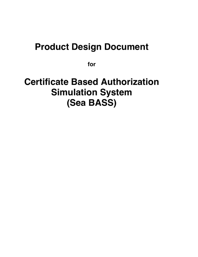 Software Design Document preview