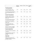Web Based Training Course Evaluation Form page 2 preview