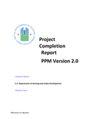 Project Completion Report Template page 1 preview