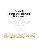 Personnel Training Plan page 1 preview