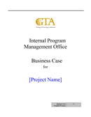 Business Case Template page 1 preview