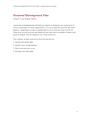 Personal Development Plan Template page 1 preview