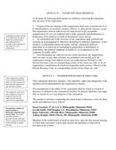 Articles of Incorporation for NonProfit Corporation page 2 preview
