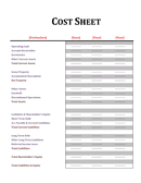 Profit and Loss Sheet page 1 preview