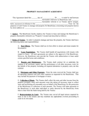 Property management agreement sample page 1 preview